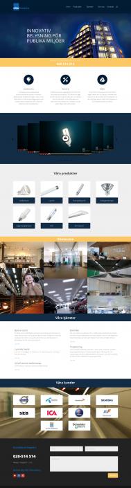 Hemsida Litetronics - Startsida