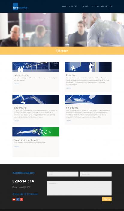 Hemsida Litetronics - Tjänstkategorier