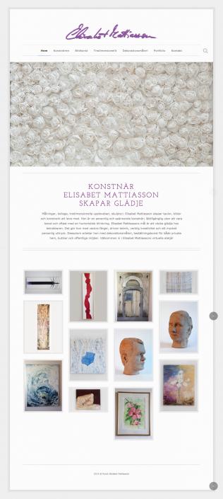 Hemsida Konstnär Elisabet Mattiasson - Startsida