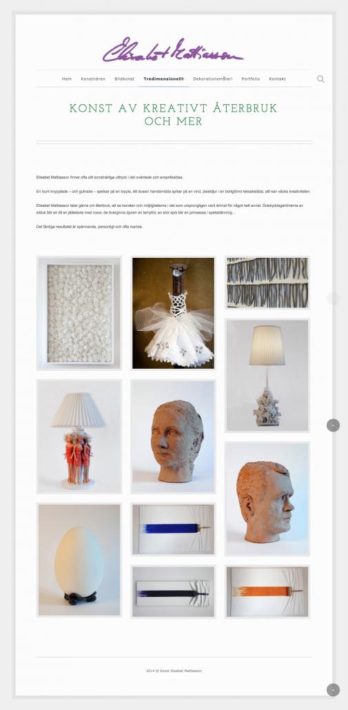 Hemsida Konstnär Elisabet Mattiasson - Produktkategori