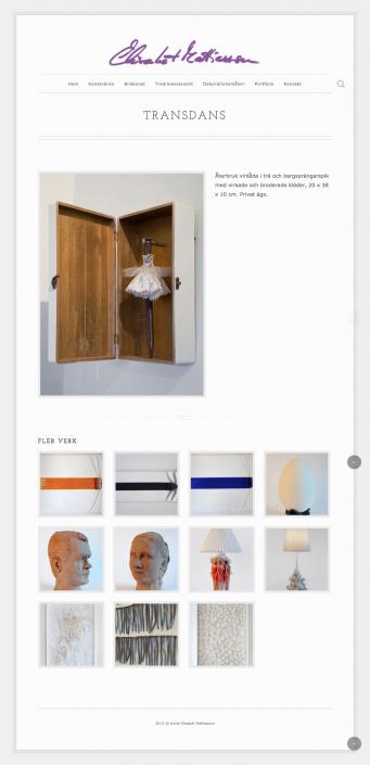 Hemsida Konstnär Elisabet Mattiasson - Produktsida