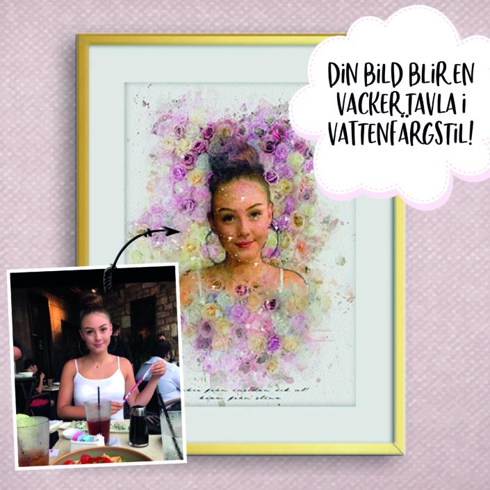 Poster porträtt blommor