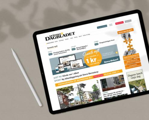 Panoramabanner för desktop för nya Skånskan.se