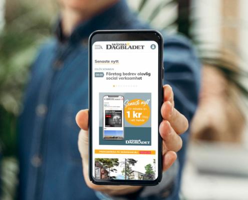 Mobilbanner för att locka nya läsare