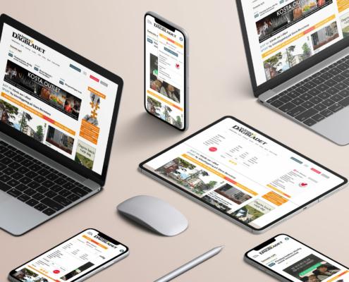 Grundskisser av skånskan.se för desktop och mobil.